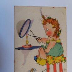 Cartes Postales: ANTIGUA TARJETA POSTAL - INFANTIL - HUELO ....A CHAMUSQUINA - EDICIONES AGUIRRE - CIRCULADA . Lote 174149629