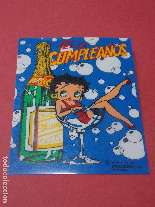 POSTAL SERIE BETTY BOOP - FELIZ CUMPLEAÑOS - PUBLICOR, S A. BARCELONA - REVERSO ESCRITO 1989... L322 (Postales - Dibujos y Caricaturas)