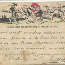 Postales: (PS-61693)POSTAL CU-CUT ELECCIONS DE DIPUTATS A CORTS DE 1905.ATENTANDO EN LAS RAMBLAS LEER. Lote 175612702