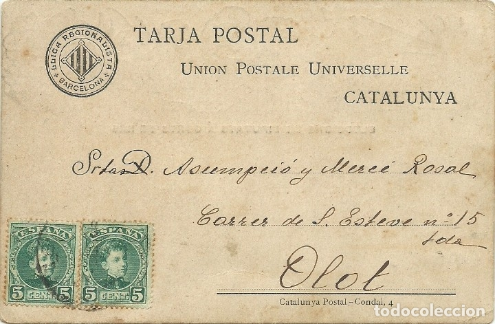 Postales: (PS-61693)POSTAL CU-CUT ELECCIONS DE DIPUTATS A CORTS DE 1905.ATENTANDO EN LAS RAMBLAS LEER - Foto 2 - 175612702