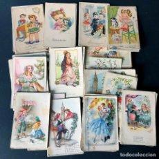 Postales: GRAN LOTE DE 75 POSTALES ANTIGUAS / NIÑOS - GALANTES / ESCRITAS AÑOS 40-50 / HUESCA. Lote 175855063