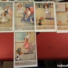 Postales: LOTE 7 POSTALES NIÑOS ILUSTRADAS POR AGNES RICHARDSON SERIE OUR KIDDIES TUCK´S POST CARD. SIN CIRCUL. Lote 175974220