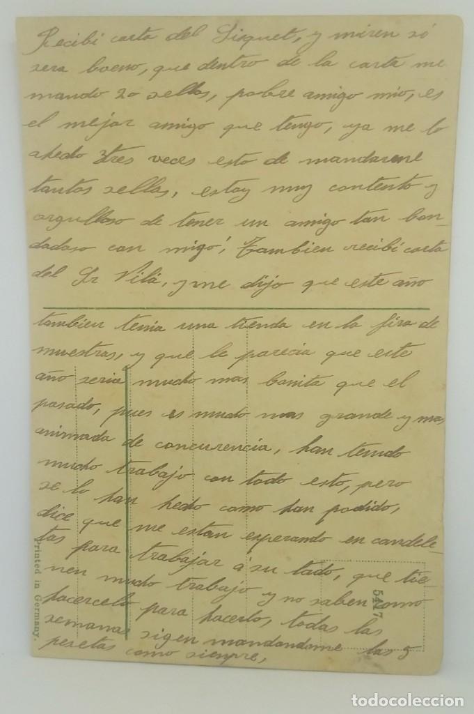Postales: Caricatura de 2 mujeres peleando a escobazos. Postal antigua enviada desde Almería en 1922. - Foto 3 - 175974640