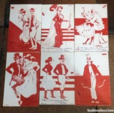 Postales: SERIE COMPLETA DE 6 POSTALES MUY RARA ILUSTRADA POR RAPHAEL KIRCHNER . Lote 175992625