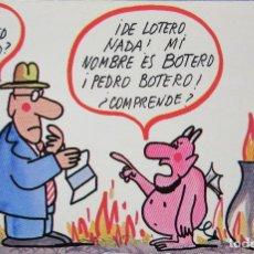 Postales: POSTAL CON CARICATURA DE MANUEL SUMMERS. Lote 176027918
