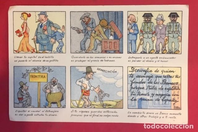 POSTAL COMICA,SECRETARIA DE DEFENSA DEL AHORRO (Postales - Dibujos y Caricaturas)