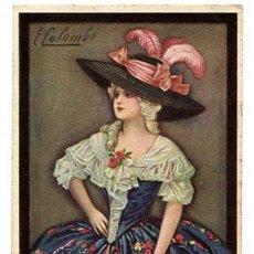 Postales: POSTAL ILUSTRADA COLOMBO ( MUJER ) , SIN CIRCULAR. Lote 176290554