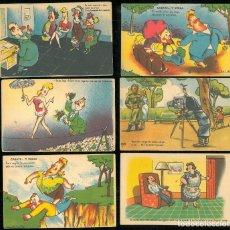 Postales: CONJUNTO DE POSTALES CÓMICAS HUMORÍSTICAS AÑOS 50/60. Lote 176460107
