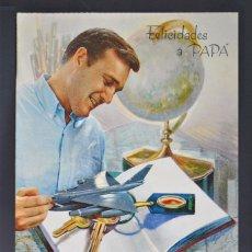 Postales: POSTAL DESPLEGABLE, TRIDIMENSIONAL, TROQUELADA FELICIDADES PAPÁ. Lote 176495237
