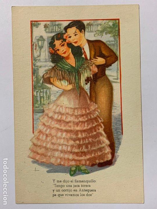 POSTAL ILUSTRADA MELODIAS SELECTAS MARIA DE LOS MILAGRO. EDITORIAL ARTIGAS SERIE 178. ESCRITA 1950. (Postales - Dibujos y Caricaturas)
