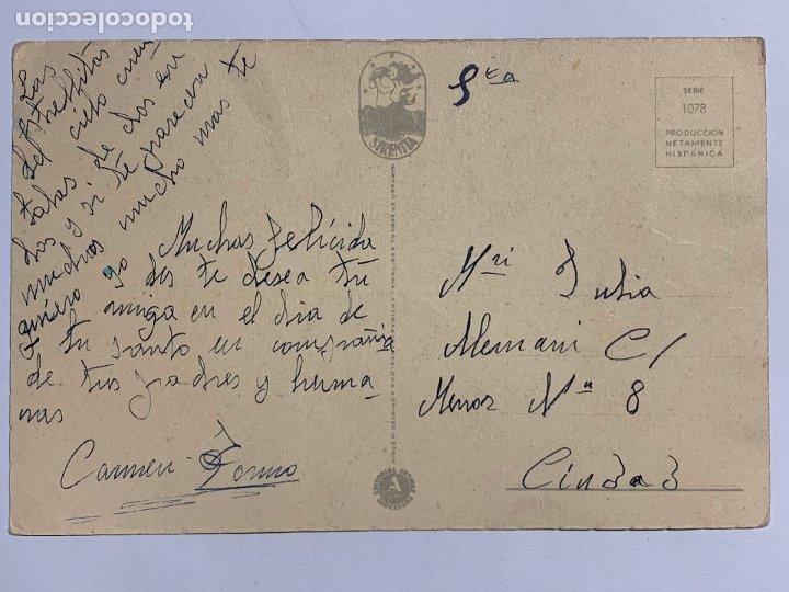 Postales: POSTAL ILUSTRADA EDITORIAL ARTIGAS SERIE 1078. ESCRITA. - Foto 2 - 177046160
