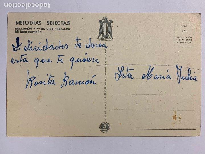 Postales: POSTAL ILUSTRADA GIRONA MELODIAS SELECTAS MI LOCO CORAZÓN. EDITORIAL ARTIGAS SERIE 171. - Foto 2 - 177046258