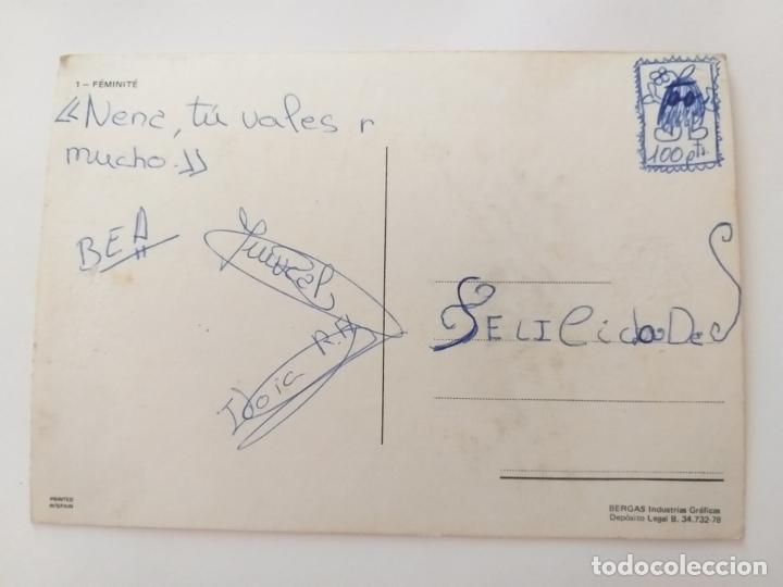 Postales: Postal niña con perro. FEMINITE. 1. AÑO 1978. BERGAS. SIN CIRCULAR. ILUSTRADA POR ALONSO - Foto 2 - 177744683