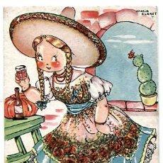 Postales: POSTAL ILUSTRADA MARIA CLARET ( NIÑOS) , ED. MARI PEPA SERIE XX Nº 1 CIRCULADA. Lote 177829023