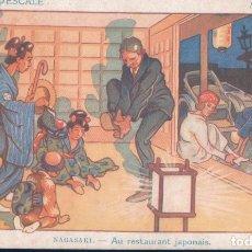 Postales: POSTAL NAGASAKI - AU RESYAURANT JAPONAIS - ILUSTRADOR GERVESE - CROQUIS D'ESCALE. Lote 177866138