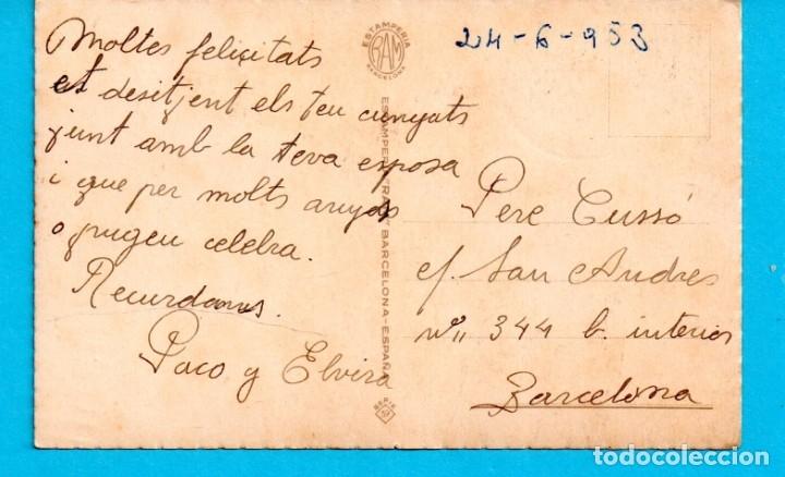 Postales: POSTALES DE DIBUJOS PAREJA EN EL CAMPO EDITO RAM ESCRITAS LOS AÑO 1953 - Foto 2 - 178004534