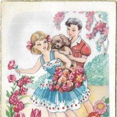 Postales: == PH1046 - POSTAL - FELICIDADES - PAREJITA CON UN PERRITO. Lote 178116168