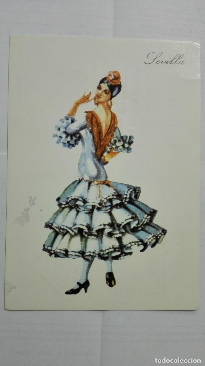 POSTAL TRAJES REGIONALES SEVILLA, PUBLICIDAD FARMACIA PRONITOL (Postales - Dibujos y Caricaturas)