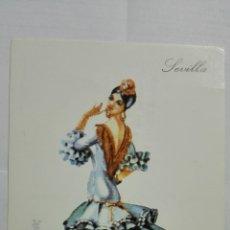 Postales: POSTAL TRAJES REGIONALES SEVILLA, PUBLICIDAD FARMACIA PRONITOL. Lote 178125697
