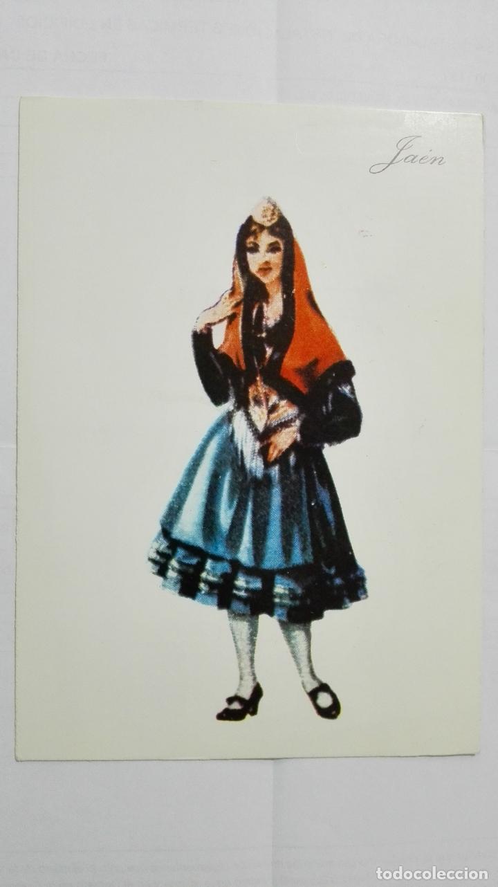 POSTAL TRAJES REGIONALES JAEN, PUBLICIDAD FARMACIA PRONITOL (Postales - Dibujos y Caricaturas)
