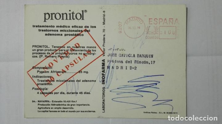 Postales: POSTAL TRAJES REGIONALES NAVARRA, PUBLICIDAD FARMACIA PRONITOL - Foto 2 - 178126094