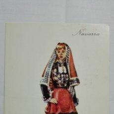 Postales: POSTAL TRAJES REGIONALES NAVARRA, PUBLICIDAD FARMACIA PRONITOL. Lote 178126094