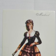 Postales: POSTAL TRAJES REGIONALES MADRID, PUBLICIDAD FARMACIA PRONITOL. Lote 178126327