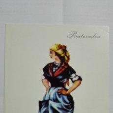 Postales: POSTAL TRAJES REGIONALES PONTEVEDRA, PUBLICIDAD FARMACIA PRONITOL. Lote 178126534