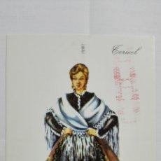 Postales: POSTAL TRAJES REGIONALES TERUEL, PUBLICIDAD FARMACIA PRONITOL. Lote 178126595