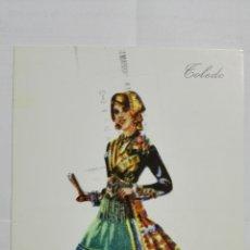 Postales: POSTAL TRAJES REGIONALES TOLEDO, PUBLICIDAD FARMACIA PRONITOL. Lote 178126648