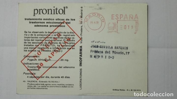 Postales: POSTAL TRAJES REGIONALES VALENCIA, PUBLICIDAD FARMACIA PRONITOL - Foto 2 - 178126702