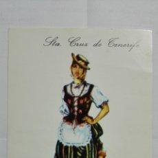 Postales: POSTAL TRAJES REGIONALES STA CRUZ DE TENERIFE, PUBLICIDAD FARMACIA PRONITOL. Lote 178126858