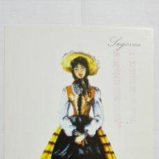 Postales: POSTAL TRAJES REGIONALES SEGOVIA, PUBLICIDAD FARMACIA PRONITOL. Lote 178126909