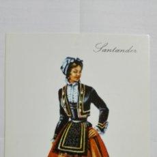 Postales: POSTAL TRAJES REGIONALES SANTANDER, PUBLICIDAD FARMACIA PRONITOL. Lote 178127014