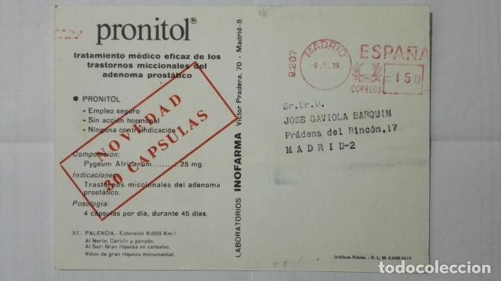 Postales: POSTAL TRAJES REGIONALES PALENCIA, PUBLICIDAD FARMACIA PRONITOL - Foto 2 - 178127089
