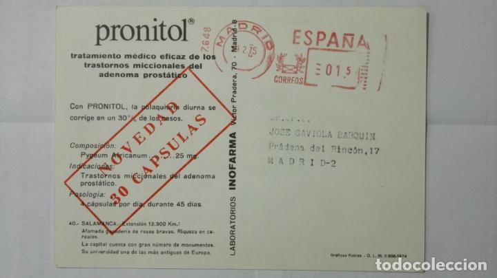Postales: POSTAL TRAJES REGIONALES SALAMANCA, PUBLICIDAD FARMACIA PRONITOL - Foto 2 - 178127160