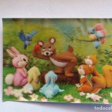 Postales: TARJETA POSTAL - TOPPAN TOP STEREO 3D ESTEREOSCÓPICAS - ANIMALES - DIBUJOS. Lote 178222463