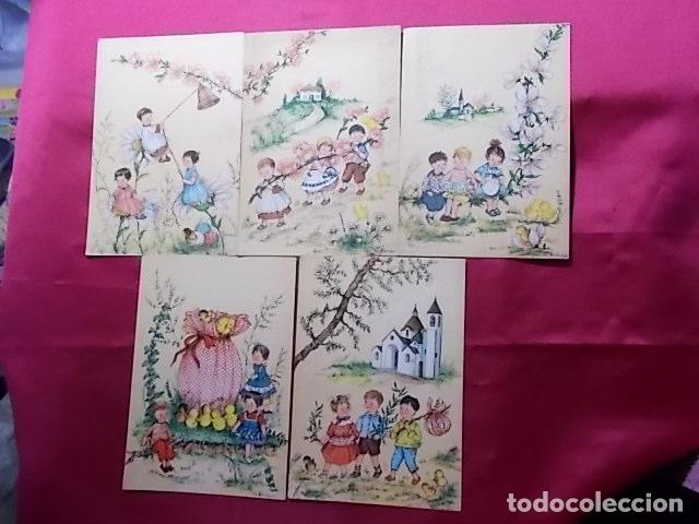 LOTE 5 POSTALES EDICIONES AR. SERIE 330/ 1, 2, 3, 4, 6. ILUSTRADOR G. BOSISIO (Postales - Dibujos y Caricaturas)
