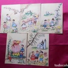 Postales: LOTE 5 POSTALES EDICIONES AR. SERIE 330/ 1, 2, 3, 4, 6. ILUSTRADOR G. BOSISIO. Lote 178309052