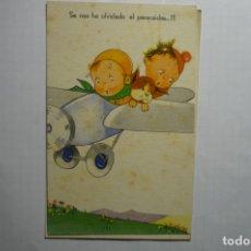Postales: POSTAL DIBUJADA AVION .CIRCULADA . Lote 178626890