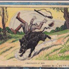 Postales: 5 POSTALES ILUSTRACIONES DE CAZADORES. 1907 A 1912. CIRCULADAS. CAZADOR.. Lote 178748312