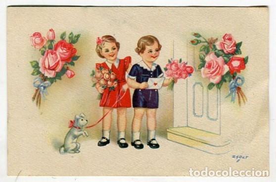 POSTAL CMB SERIE 45 DIBUJO ZLOST ESCRITA EN 1945 (Postales - Dibujos y Caricaturas)