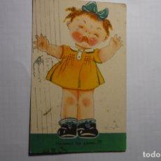 Postales: POSTAL NIÑA LLORANDO - DIBUJO MD CIRCULADA . Lote 179077265