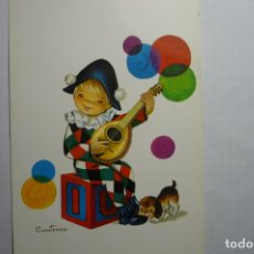 Postales: POSTAL IBUJO CONSTANZA ARLEQUIN ESCRITA. Lote 179077597