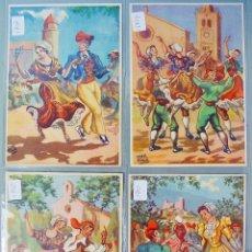 Postales: 4 ANTIGUAS POSTALES DE DANSES CATALANES DU ROUSILLON. SIN CIRCULAR COLLECTIÓN SANG ET OR. PERPIGNAN. Lote 179132615