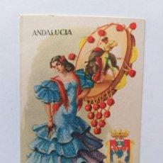Postales: POSTAL ILUSTRADA. TRAJE REGIONAL. MUJER VESTIDA CON TRAJE TÍPICO DE SEVILLA. Lote 180016913