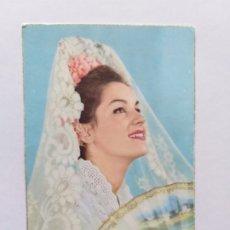 Postales: POSTAL ILUSTRADA. MUJER CON MANTILLA ABANICO Y PEINETA. Lote 180019866