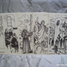 Postales: DOMUND DE LA FE. LOTE 5 POSTALES ILUSTRADAS POR BATLLORI. Lote 180104977