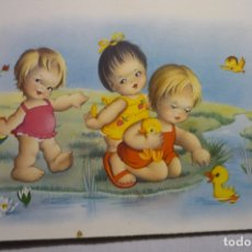 Postales: POSTAL NIÑOS JUGANDO EN EL AGUA -ESCRITA 2336 D. Lote 180265360