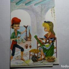 Postales: POSTAL CATALANES - DIBUJO T.BRESCO ESCRITA. Lote 180265492